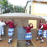 The Water Project: Friends Secondary School Shirugu -  Students Celebrate At The Rain Tank