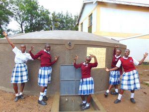 The Water Project:  Students Celebrate At The Rain Tank