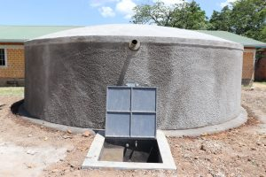 The Water Project:  Finished Rain Tank