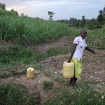 The Water Project: Mukhuyu Community, Chisombe Spring -  Carrying Water From Chisombe Spring