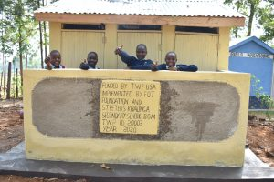 The Water Project:  Smiles And Thumbs Up For New Latrines