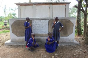 The Water Project:  Girls At Their Completed Vip Latrines