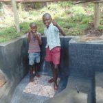 The Water Project: Bukhaywa Community, Ashikhanga Spring -  Thumbs Up For Flowing Water