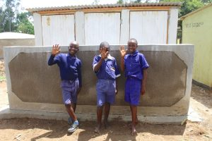 The Water Project:  Boys Happy At Their New Latrines