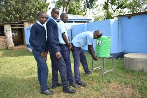 The Water Project:  Boys At Their New Handwashing Station