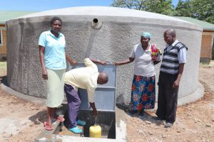 The Water Project:  School Staff At The Rain Tank
