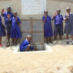 The Water Project: Makale Primary School -  Students Posing At The Rain Tank