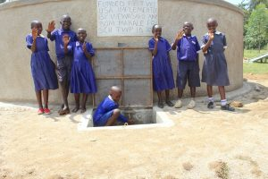 The Water Project:  Students Posing At The Rain Tank
