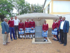 The Water Project:  Students And Staff Formally Pose At The Tank