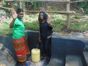 The Water Project:  Georgina On Right With Community Member