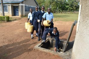 The Water Project:  Collecting Water For Kitchen Use