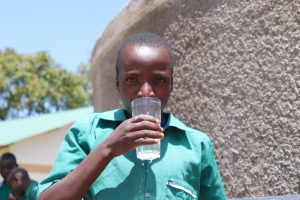 The Water Project:  Drinking From The New Water Point
