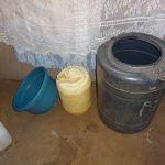 The Water Project: Mahira Community, Jairus Mwera Spring -  Water Storage Containers