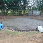 The Water Project: Friends Kuvasali Secondary School -  Affixing Wire Reinorcement For Tank Walls