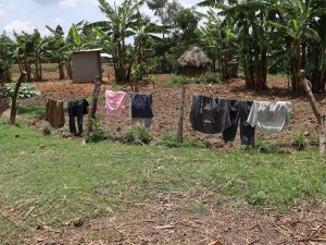 The Water Project:  Clothes Hung On A Fence