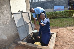 The Water Project:  Collecting Water For Sanitation And Washing Plates