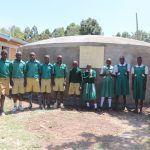 The Water Project: Friends School Mahira Primary -  Students And Their Teachers At The Rain Tank