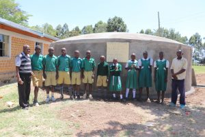 The Water Project:  Students And Their Teachers At The Rain Tank