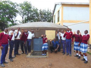 The Water Project:  Students And Field Officer Victor Celebrate Water At The Tank