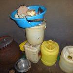 The Water Project: Mahira Community, Jairus Mwera Spring -  Water Storage