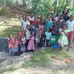 The Water Project: Bukhaywa Community, Ashikhanga Spring -  Thumbs Up For Clean Water