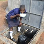 The Water Project: St. Peter's Khaunga Secondary School -  Enjoying A Drink