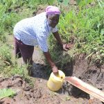 The Water Project: Mahira Community, Litinyi Spring -  Collecting Water
