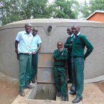 The Water Project: Friends Kuvasali Secondary School -  Boys Pose At The Water Tank