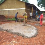 The Water Project: Gamalenga Primary School -  Casting The Concrete Base