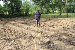 The Water Project:  Mark Webo Inspects Land Before Planting Season