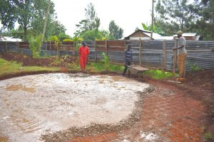 The Water Project:  Casting The Concrete Base