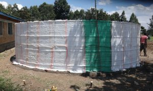 The Water Project:  Plastic Sacks Tied To Wire