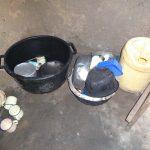 The Water Project: Mahira Community, Wora Spring -  Utensils Left To Dry