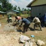The Water Project: Makale Primary School -  Mixing Cement
