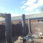 The Water Project: Friends School Mahira Primary -  Tank Pillar Construction