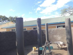 The Water Project:  Tank Pillar Construction