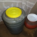 The Water Project: Mahira Community, Wora Spring -  Water Storage Containers