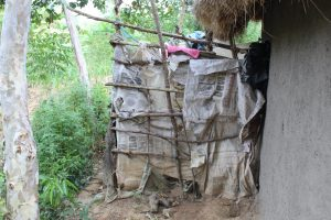 The Water Project:  Bathing Room Made Of Sticks And Bags