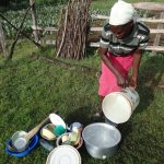 The Water Project: Mahira Community, Kusimba Spring -  Washing Utensils