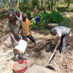 The Water Project: Bukhaywa Community, Ashikhanga Spring -  Mixing Cement And Concrete