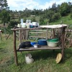 The Water Project: Mahira Community, Kusimba Spring -  Dishrack