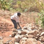The Water Project: Kasekini Community -  Rocks For Construction