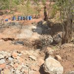 The Water Project: Kasekini Community -  Dam Site Work Begins