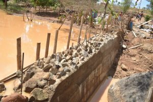 The Water Project:  Dam Wall Cement Dries