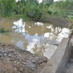 The Water Project: Kasekini Community -  Water Gathers Behind The Complete Dam