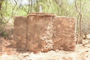 The Water Project:  Well Base Cement Dries