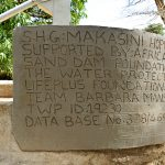 The Water Project: Kasekini Community A -  Plaque Final