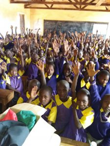 The Water Project:  Students Raise Their Hands To Participate