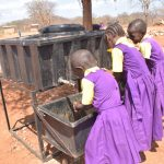 The Water Project: Murwana Primary School -  Students Use Their Handwashing Station