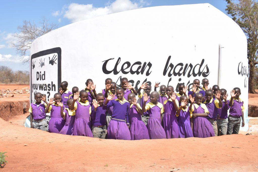 The Water Project : kenya19247-tank-celebration